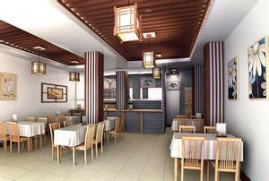青花元素在餐厅设计中的应用