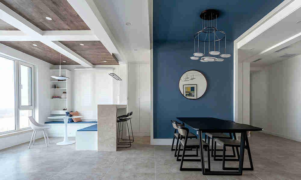 餐厅客厅怎样合二为一 小户型万能利用餐厅和客厅一体化吊顶设计图