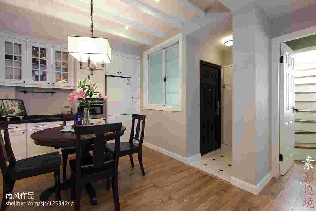 厨房与餐厅墙之间开窗连通装修效果图 客厅和厨房之间开窗户隔开样式设计图