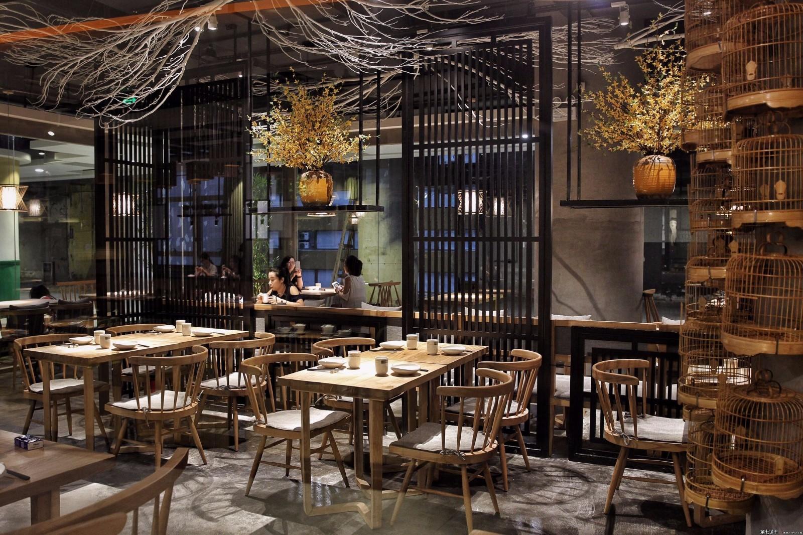餐厅吊顶生态木_生态餐厅设计_原生态餐厅设计
