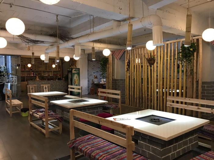原生态餐厅设计_生态木餐厅吊顶效果图_生态餐厅