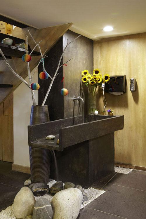 原生态餐饮店洗区装修设计案例效果图