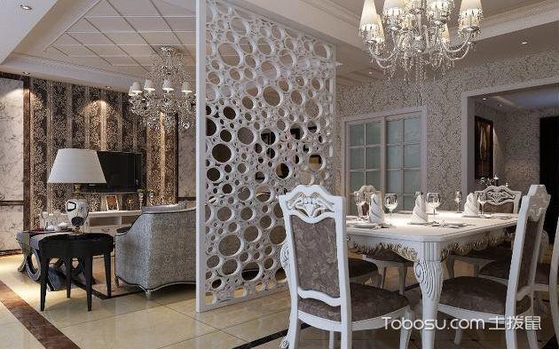 客厅餐厅隔断设计图_土拨鼠装修经验