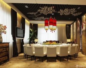 <b>最火的新中式风格饭店装修效果图</b>