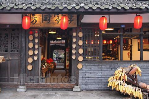 <b>特色饭店整体装修效果图 5款传统中国风农庄饭店</b>