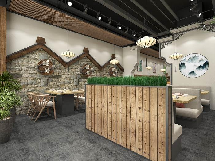 小型中式餐厅餐区装修设计效果图