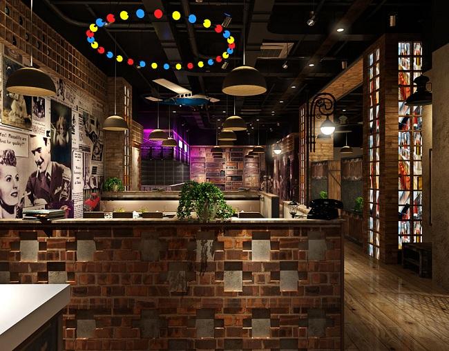 春元素餐厅包间设计_室内餐厅仿古设计效果_餐厅设计