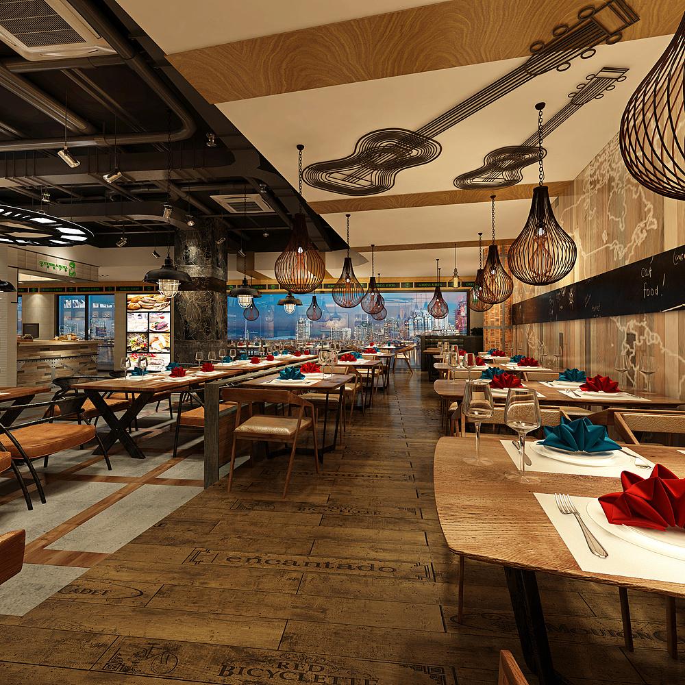 小型快餐店设计_快餐店灯箱设计_快餐店设计