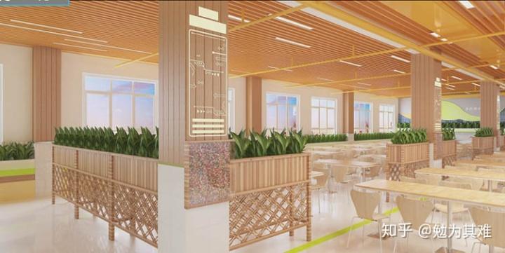 <b>新郑学校餐厅装修设计-要营造舒适的用餐环境</b>